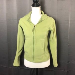 Patagonia Light Green Hooded Fleece Jacket